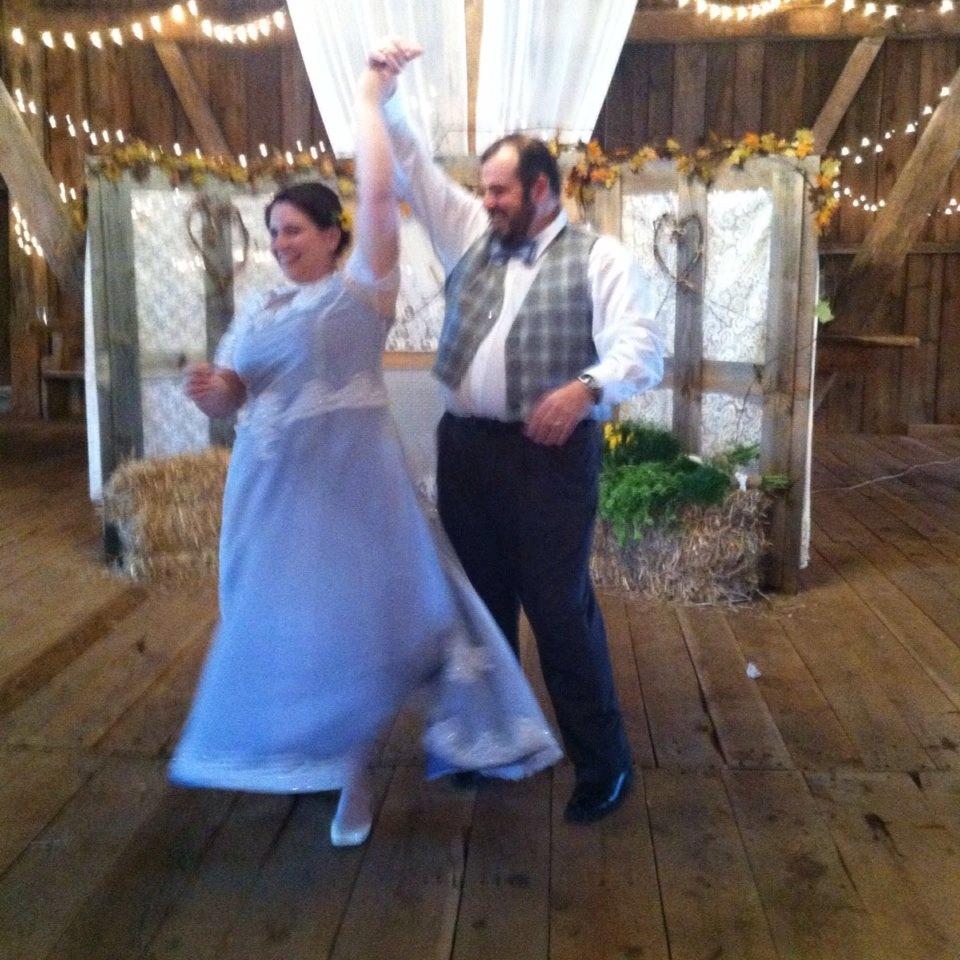 Faith and Chris dancing